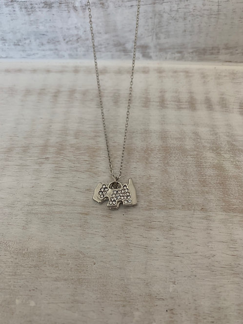 Lauren Michael Silver Dog Necklace
