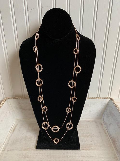 Lauren Michael Long Circles Necklace