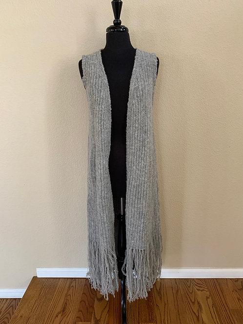Gretty Zueger Long Sweater Vest Gray