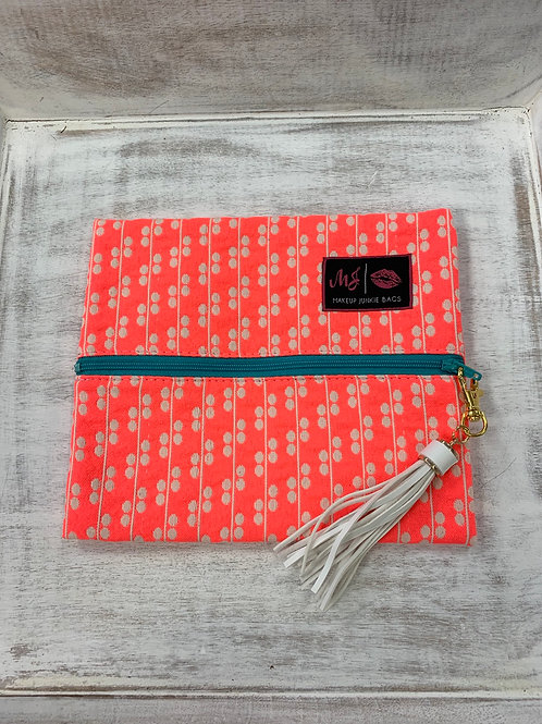 Makeup Junkie Bags Coral Crush Small