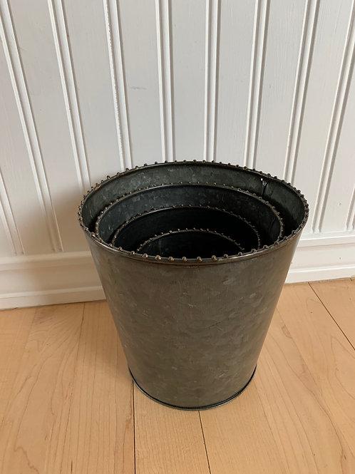 Mud Pie Tin Bucket Pot Set
