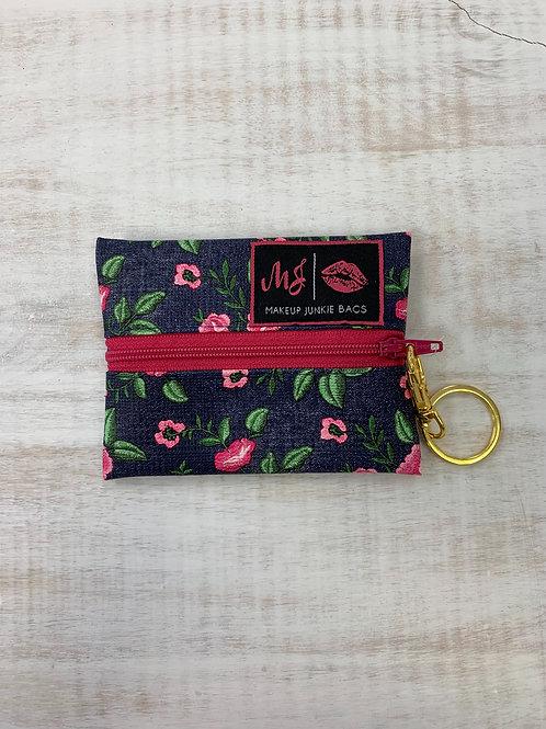 Makeup Junkie Bags Denim Floral Micro