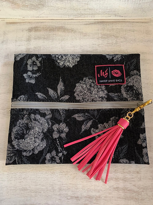 Makeup Junkie Bags Denim Floral Small