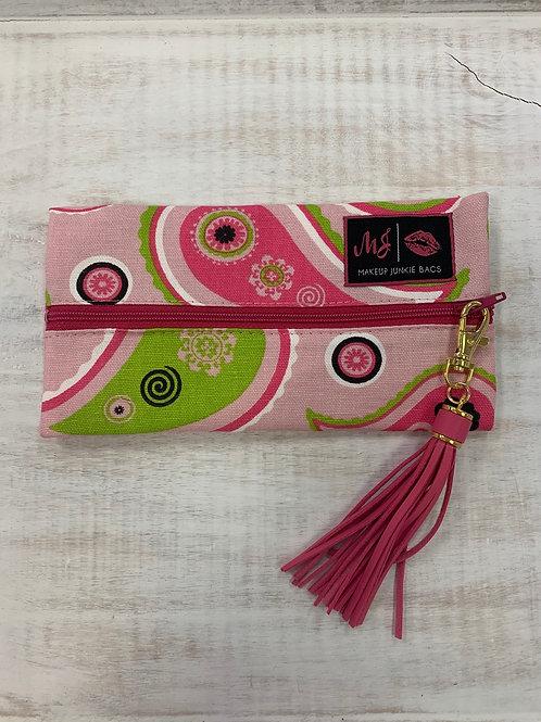 Makeup Junkie Bags Pink Paisley Mini