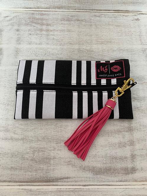 Makeup Junkie Bags Destash Asymmetrical Stripe Mini