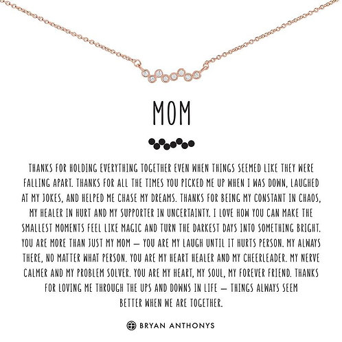Bryan Anthony's Mom Necklace Rose Gold