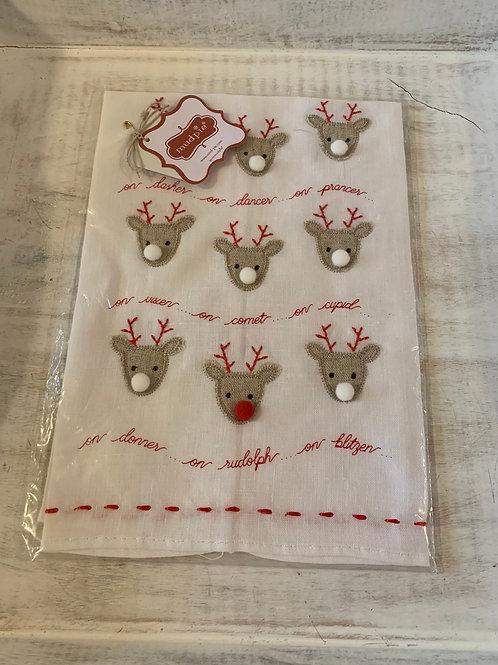 Mud Pie Reindeer Tea Towel