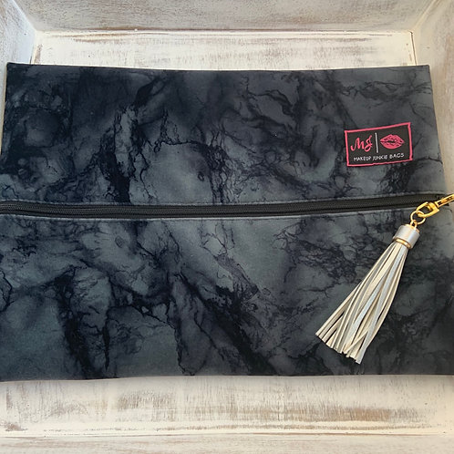 Makeup Junkie Bags Charcoal Marble Large