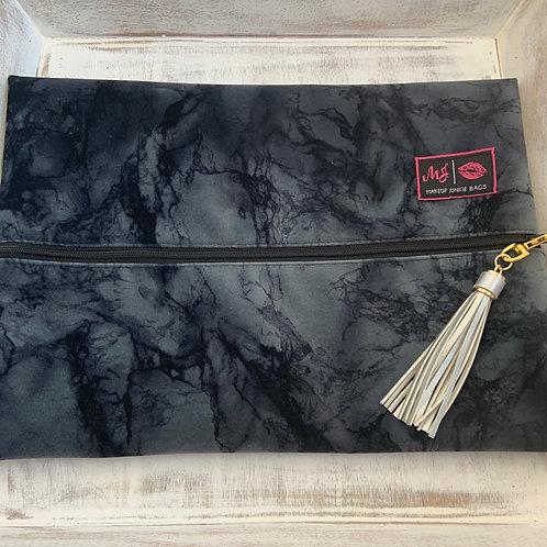 Makeup Junkie Bags Destash Charcoal Marble Large