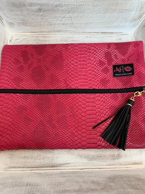 Makeup Junkie Bags Pink Python Large