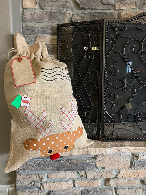 Mud Pie Christmas Personalized Gift Sack