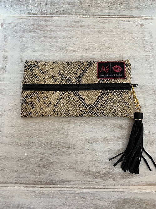 Makeup Junkie Bags White Snake Mini
