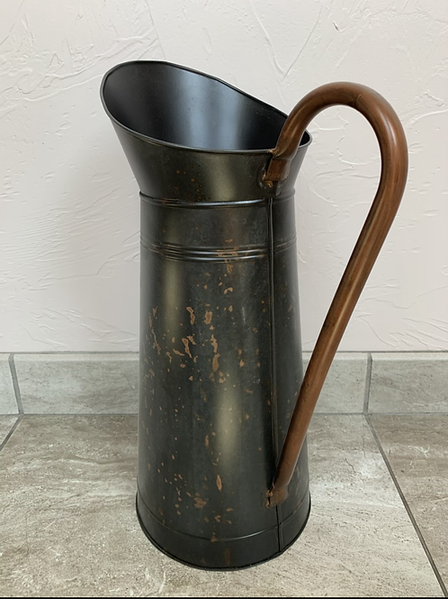Mud Pie Large Tin Pitcher