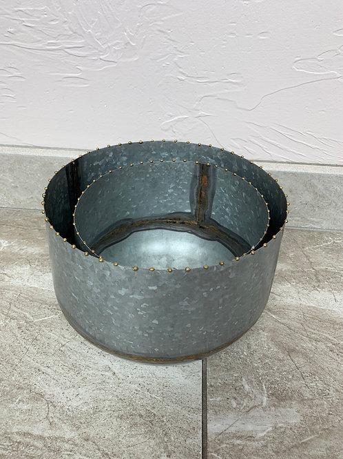 Mud Pie Tin Gold Stripe Pot Set