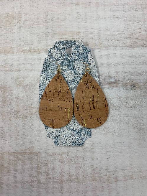 MistiC Wood Gold Dangle Earrings