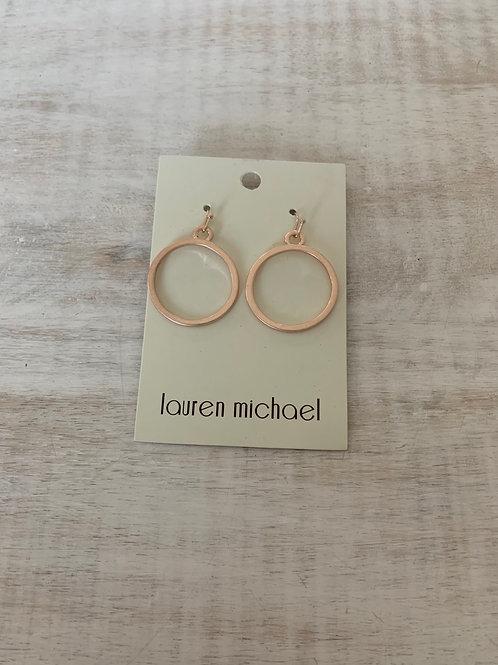 Lauren Michael Rose Gold Mini Hoop Earrings