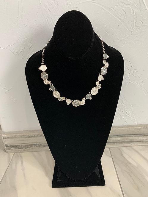 Lauren Michael Multi Disc Silver Necklace