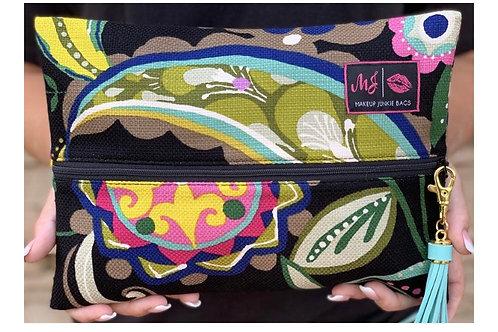 Makeup Junkie Bags Paisley Floral Medium