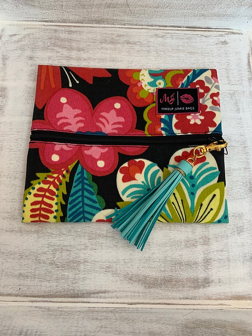 Makeup Junkie Bags Turnkey Drop Floral Small