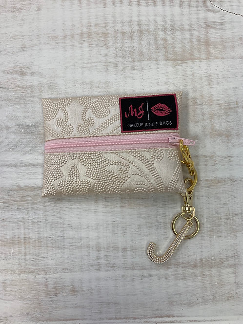 Violet Brooks Pearl Keychain Initial