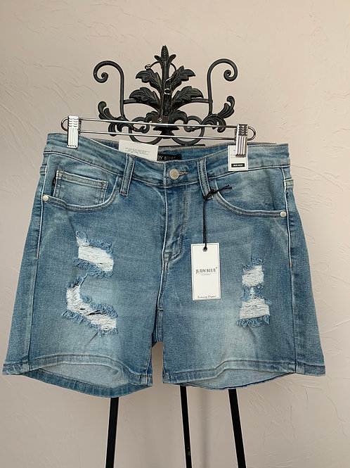 Judy Blue Mid-Thigh Destroyed Shorts