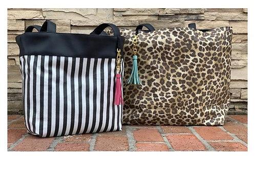 Makeup Junkie Bags Savannah Glam Stripe Reversible Daykeeper
