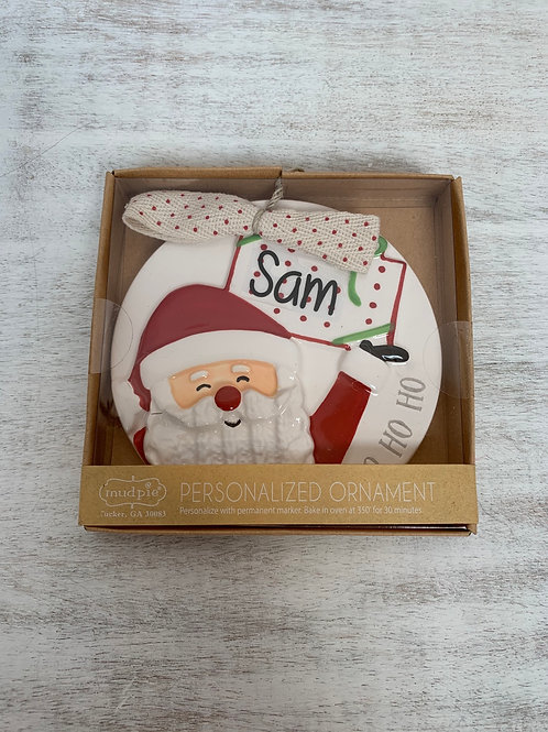 Mud Pie Personalized Ornaments