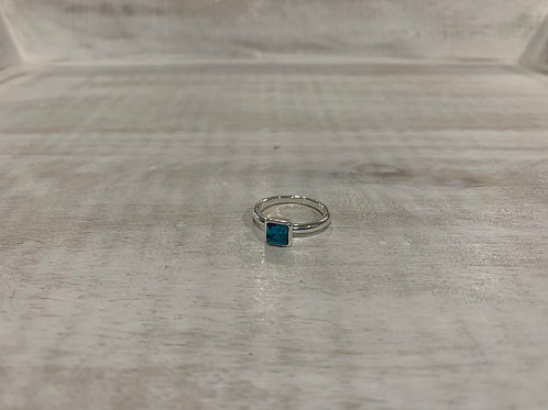 Lauren Michael Turquoise Square Ring