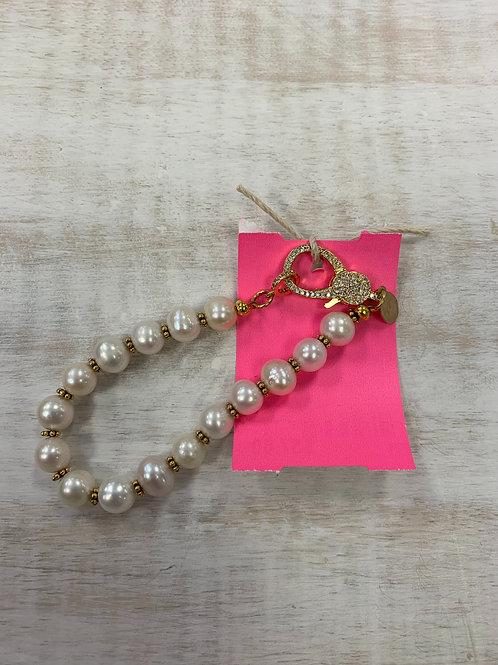 Ariel's Promise Pearl Pave Bracelet