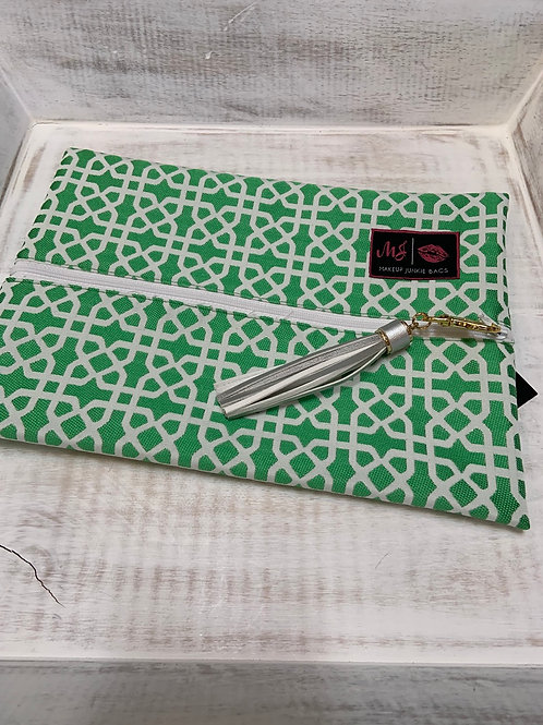 Makeup Junkie Bags Lattice Work Green Medium