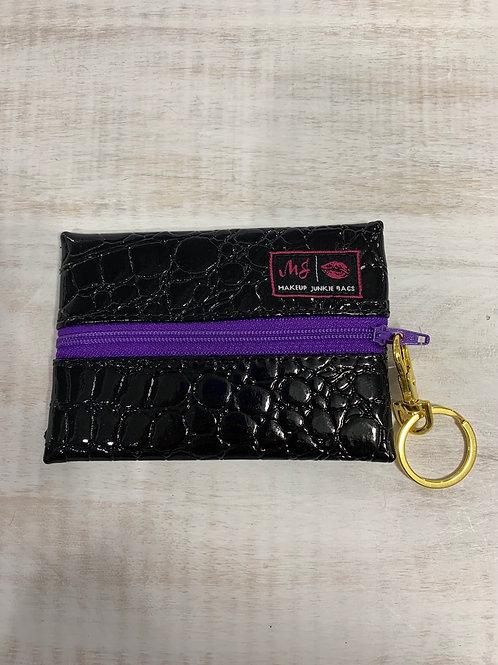 Makeup Junkie Bags Midnight Gator Purple Zipper Micro