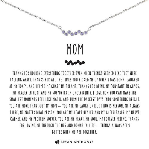 Bryan Anthony's Mom Necklace Silver
