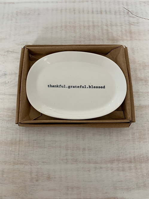 Mud Pie Blessed Porcelain Dish