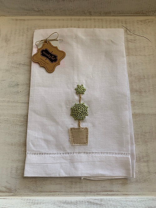 Mud Pie Single Topiary French Knot Towel