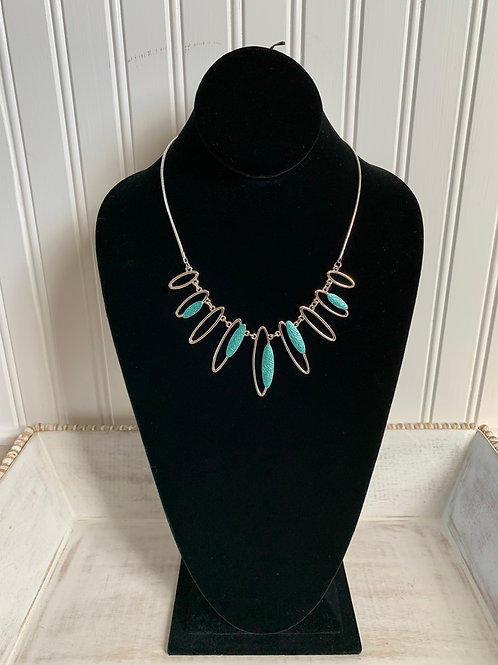 Lauren Michael Turquoise and Silver Necklace