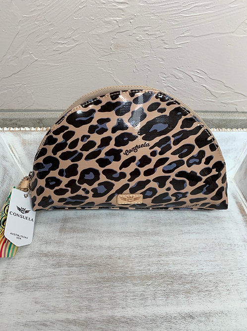 Consuela Blue Jaguar Large Cosmetic Bag