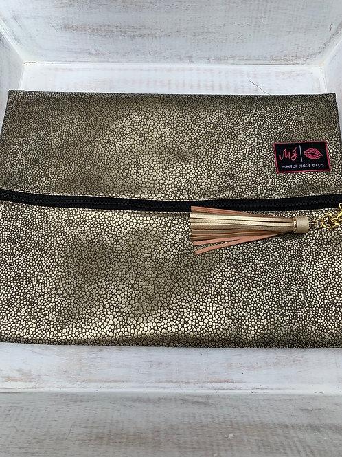 Makeup Junkie Bags Destash Gold Pebble Large
