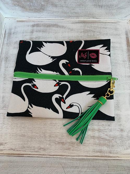Makeup Junkie Bags Destash Swan Green Zipper Small