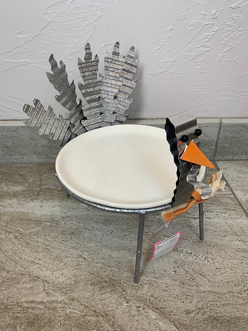 Mud Pie Turkey Plate Stand