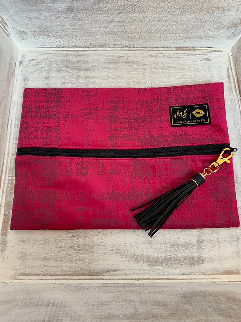 Makeup Junkie Bags Destash Pink Velvet Gold Label Medium