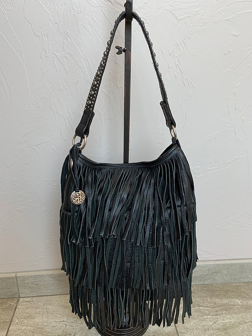 Double J Saddlery Small Tote Leather Fringe