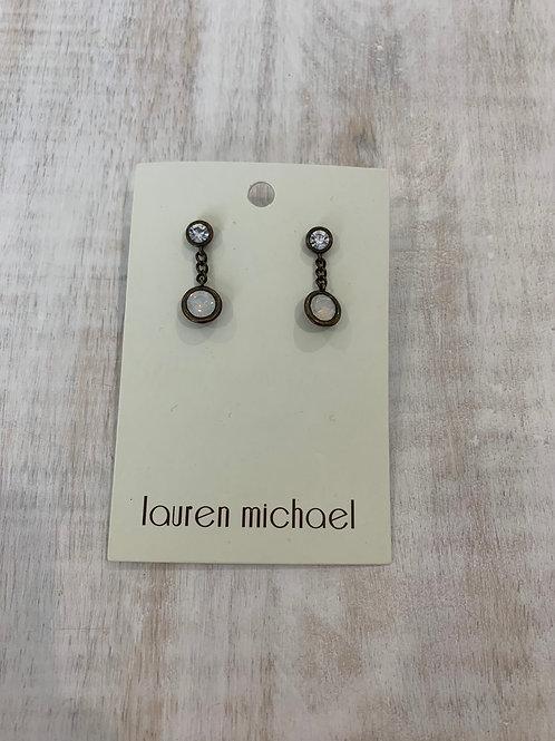 Lauren Michael Bronze Opal Earrings