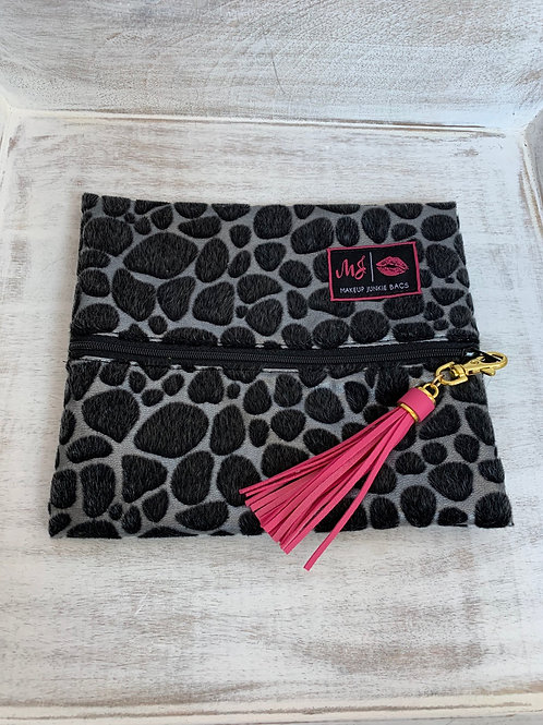 Makeup Junkie Bags Furry Pebble Small