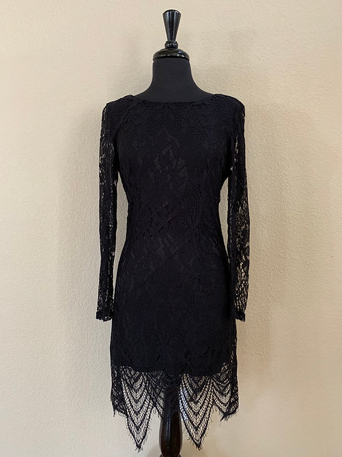 She and Sky Long Sleeve Lace Bodycon Dress