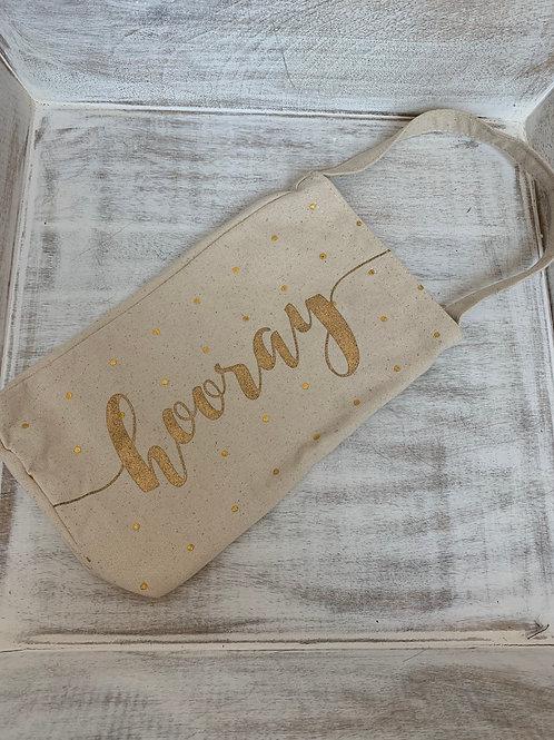 Mud Pie Canvas Wine Bag