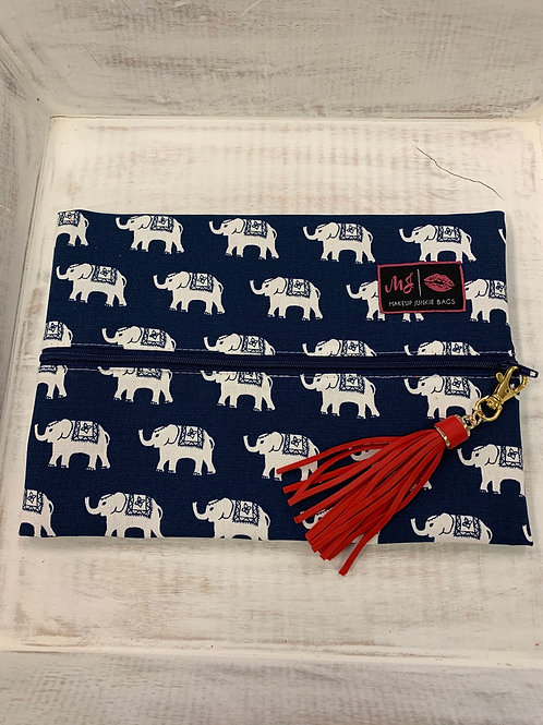 Makeup Junkie Bags Navy Circus Medium