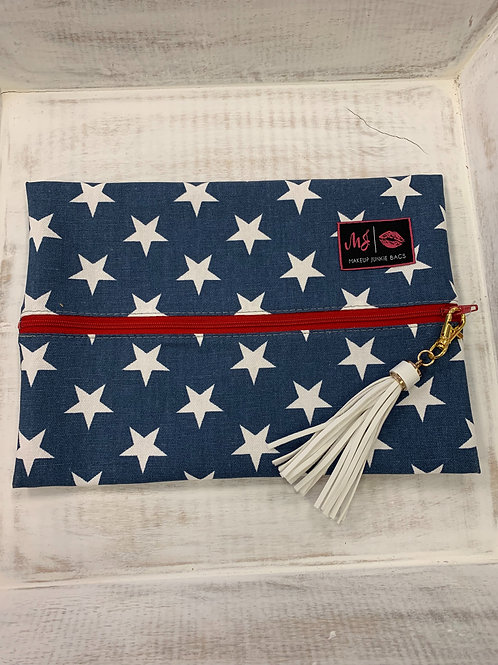 Makeup Junkie Bags Red White and Beautiful Medium