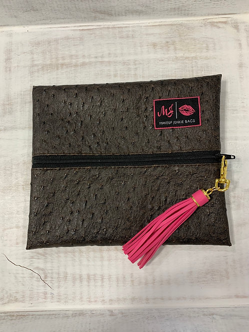 Makeup Junkie Bags Quill Chocolate Small