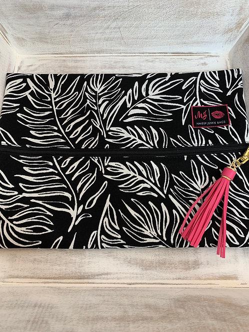 Makeup Junkie Bags Tropical Palms Large