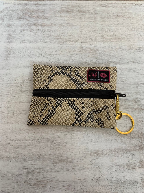 Makeup Junkie Bags White Snake Micro